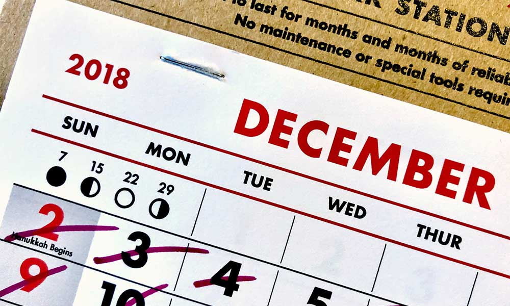 an example of a promotion calendar printing project
