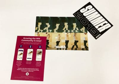 Postcard prints for various clients including MoMa, the NBA Players Association and Weight Watchers.