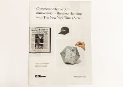 A broadsheet newsprint project done for the New York Times by Thomas Group Printing, a digital printing NYC company