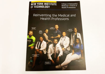 A saddle stitched booklet printing nyc done for new york institute of technology